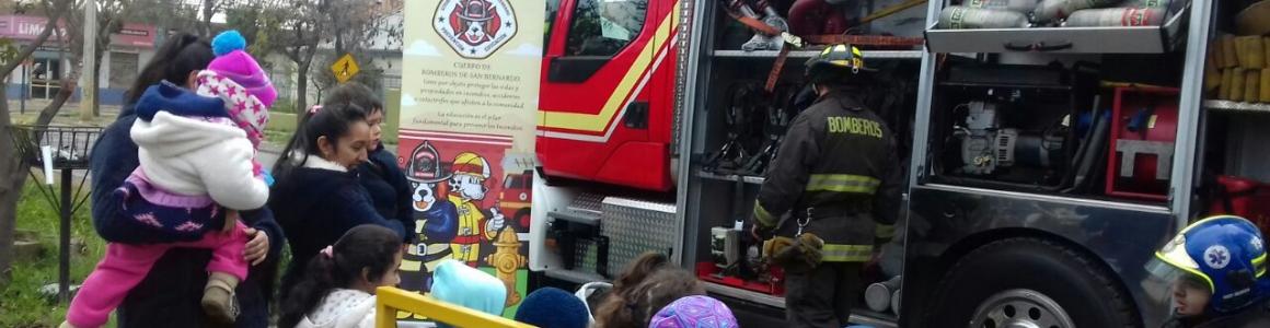 Celebrando el día del bombero con la Segunda Compañía de Bomberos de San Bernardo